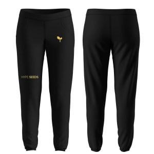 black & gold sweatpants