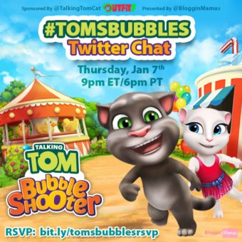 Talking Tom Bubble Shooter Twitter Party
