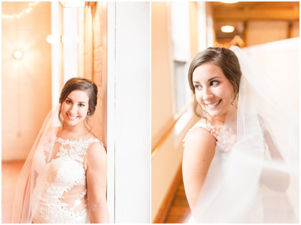 classy bridal session at The Laboratory Mill in Linconlton, NC