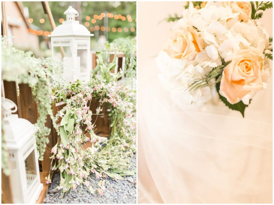 rustic carolina country wedding with a glowing sunset