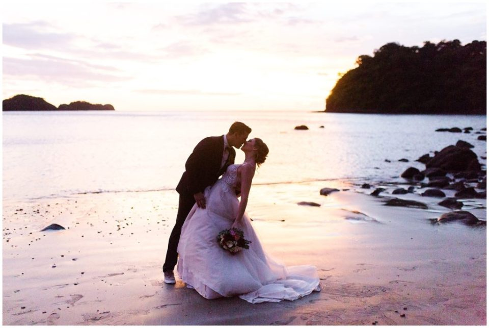 costa rica destination wedding beach pictures