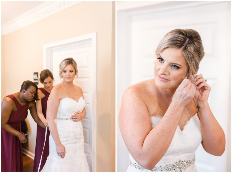 girls getting ready, beautiful navy and burgundy wedding at the laboratory mill with hypimages