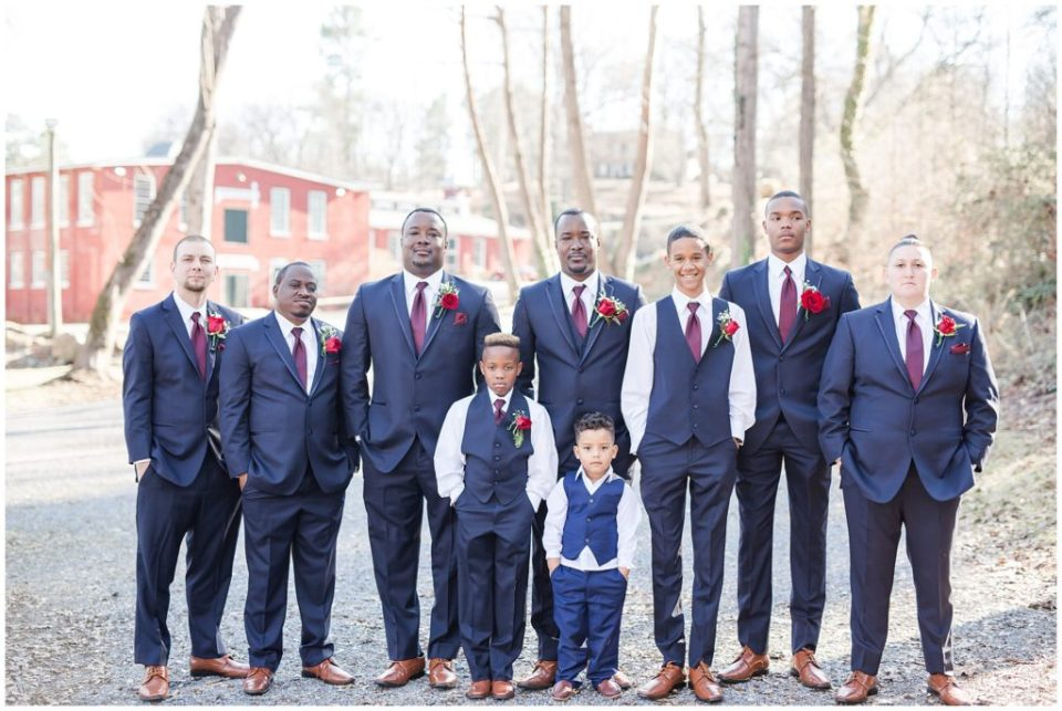 groomsmen, beautiful navy and burgundy wedding at the laboratory mill with hypimages