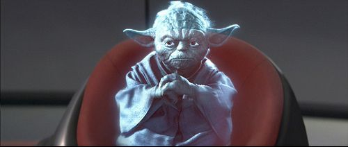 hologramme de Maitre Yoda