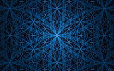 """La """"Fleur de Vie"""" reproduite en mode fractale pour illustrer la connection de l'univers de l'infiniment petit à l'infiniment grand."""