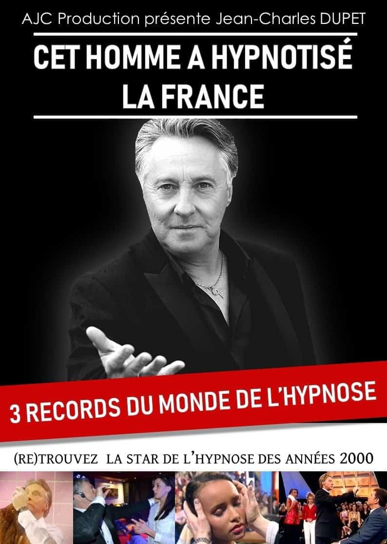 Affiche Hypnotiseur Jean-Charles Dupet