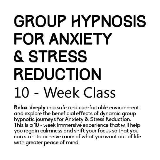 Group Hypnosis For Anxiety & Stress Reduction Poster