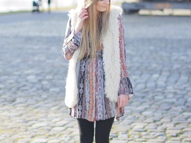 Boho-Dress-Fake-Fur-Vest-2