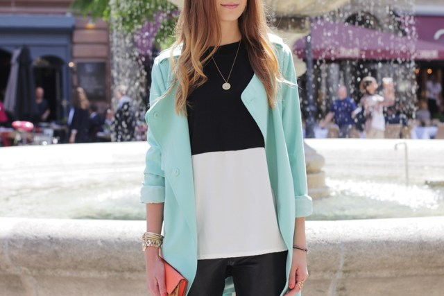 Mint Trenchcoat Outfit 15