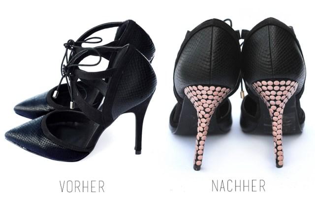 high heels DIY x