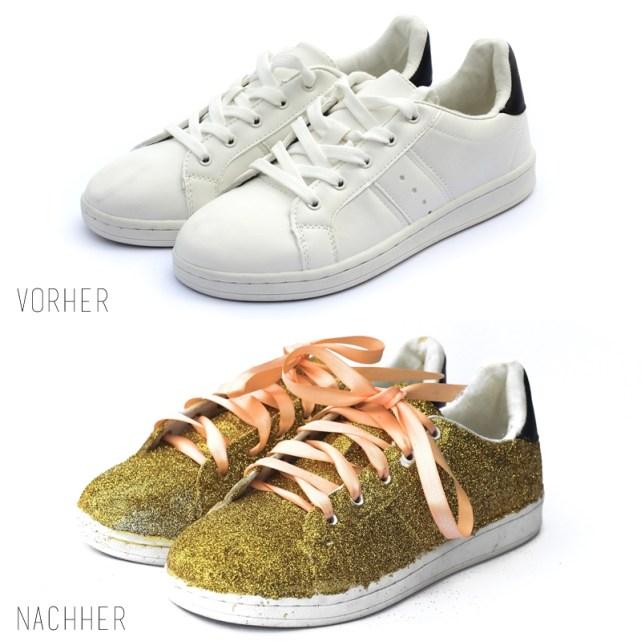 sneakers DIY vorher nachher