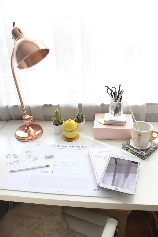Deutscher Wohnblog/ Interiorblog aus Deutschland mit Schreibtisch im skandinavischen Style. Interior Büro.