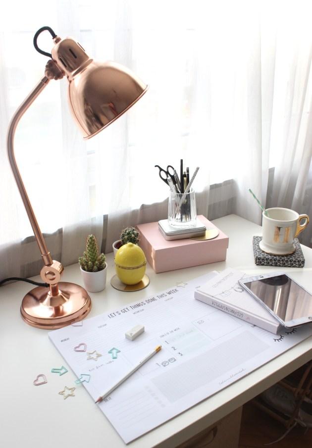 Blogger Schreibtisch skandinavisch auf Interior Blog