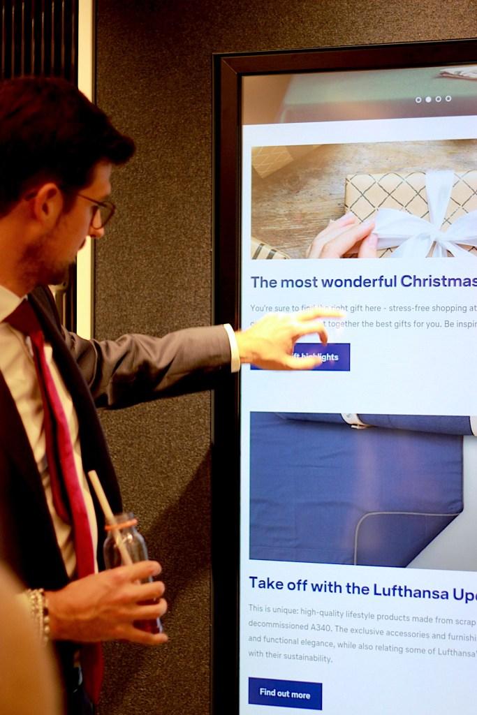 Sceens beim Relauch Event und Lufthansa WorldShop