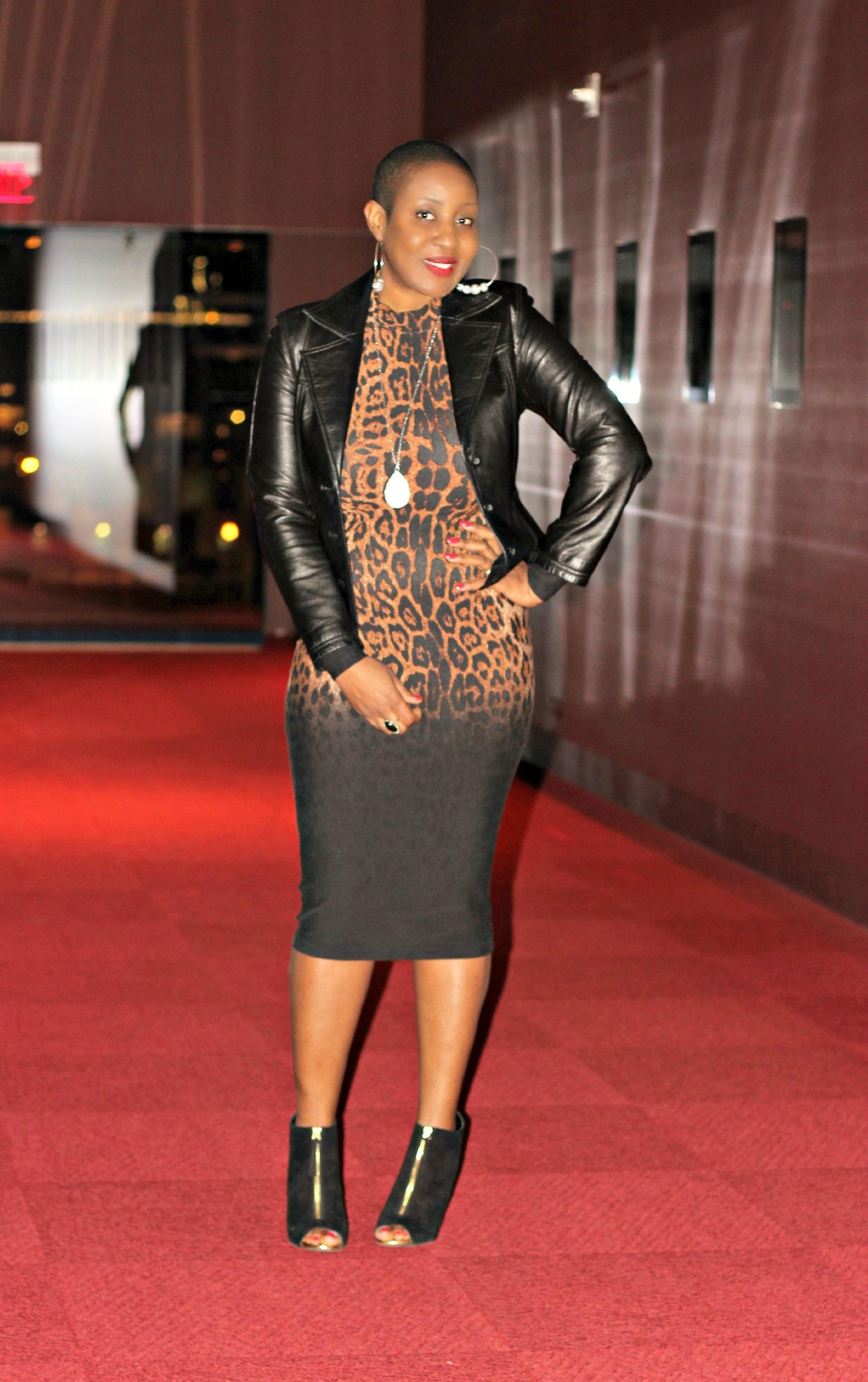 Leopard Bodycon Midi Dress Hypnoz Glam