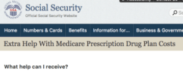 Extra Help With Medicare Prescription Drug Plan 2016