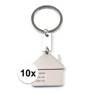 10x Makelaars kadootje sleutelhangers