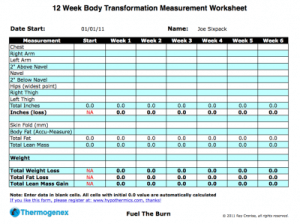 Thermogenex 12 week transformation worksheet.