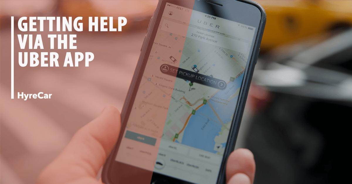 Getting Help via the Uber App