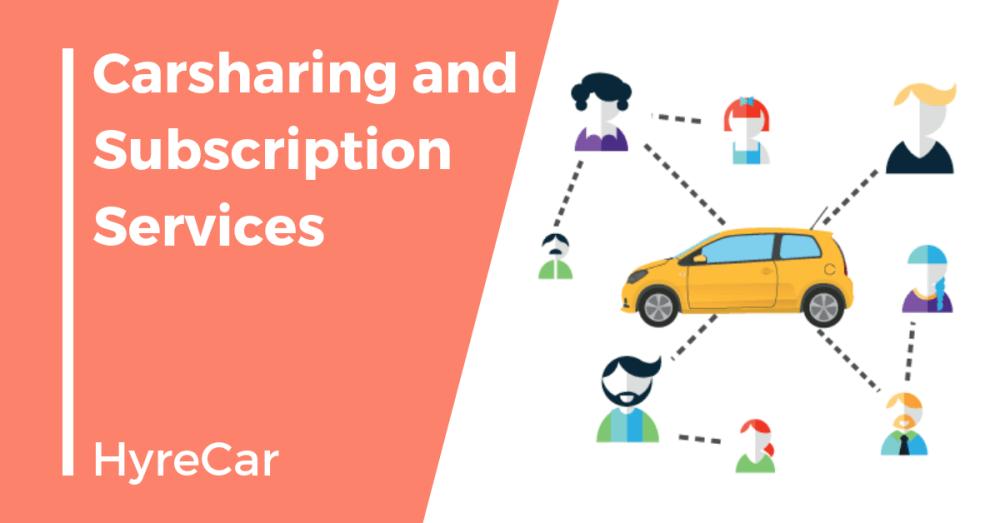 Carsharing, ridesharing, mobility, hyrecar, carsharing subscription