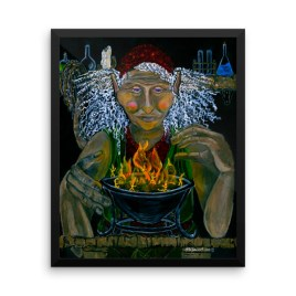Lesky the Troll Framed photo paper poster