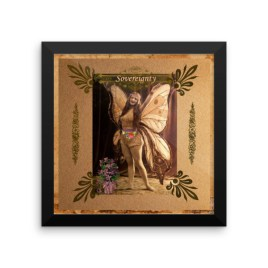 Sovereignty Vintage Fairy Framed photo paper poster