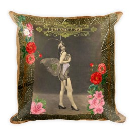"""I AM that I AM"" Vintage Fairy Square Pillow"