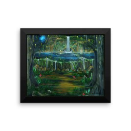 Lake of Reflection Framed photo paper poster