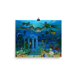 The Little People Journey into the Mystic Sea Photo paper poster