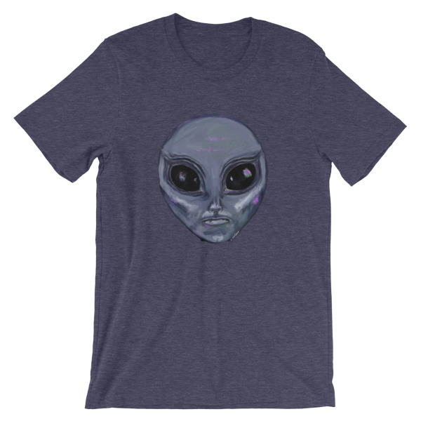 Alien Head Painted by Chris Disano Short-Sleeve Unisex T-Shirt