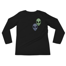 Aliens Painted by Chris Disano Ladies' Long Sleeve T-Shirt