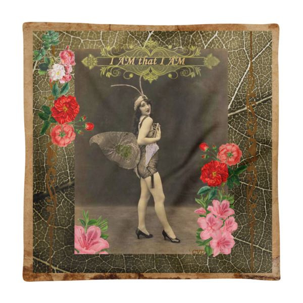 """""""I AM that I AM"""" Vintage Fairy Square Pillow Case only"""