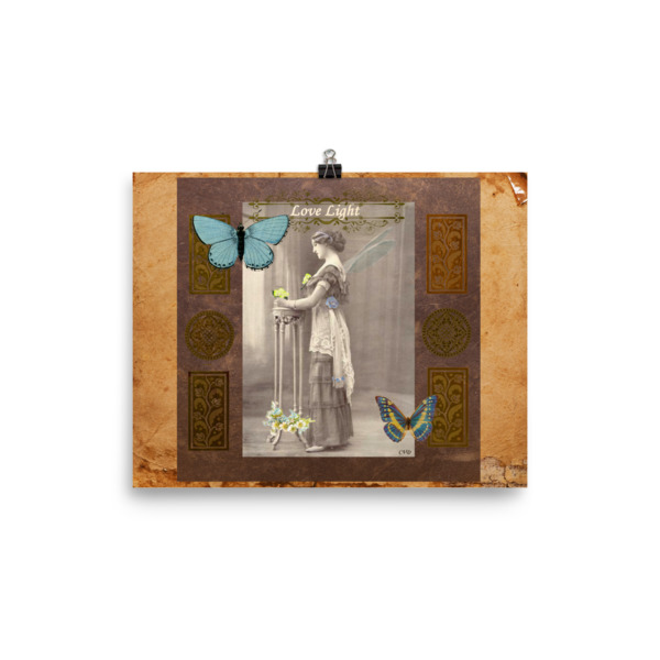 Love Light Vintage Fairy Poster