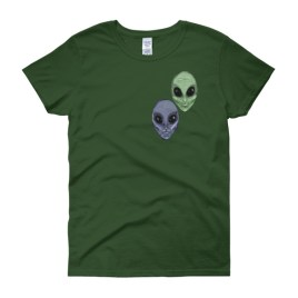 Aliens Painted by Chris Disano Women's short sleeve t-shirt