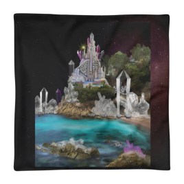 Inner Earth Crystal Palace Digital Art Square Pillow Case only