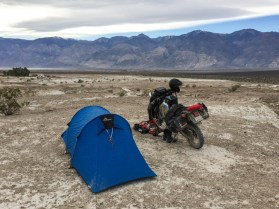 Camping site at Saline Hot Springs