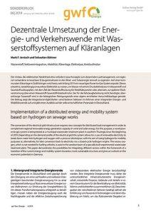 Bild Fachartikel Titel Dezentrale Umsetzung der Eneergie- und Verkehrswende mit Wasserstoffsystemen auf Kläranlagen