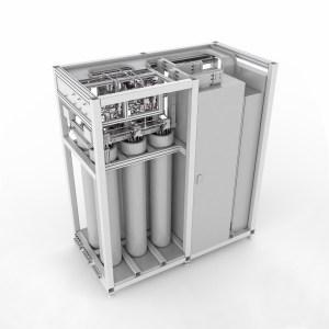 Bild Modell Hochdruckelektrolyseur d. Bauhaus-Universität Weimar