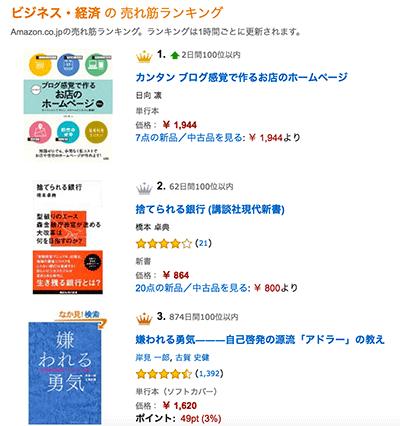 Amazon 本 ビジネス・経済 ランキング