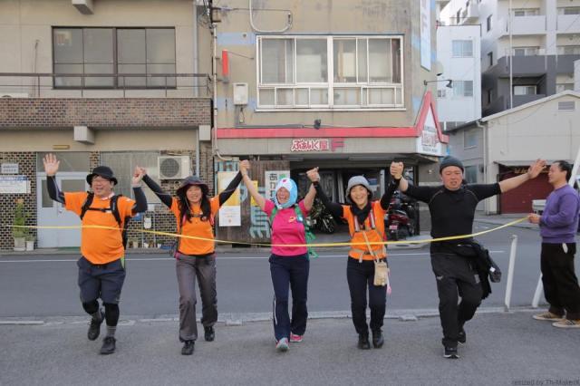 Dチームゴール「愛媛チャリティ100km歩くぞなもし」100kmウォーキングに参加しました