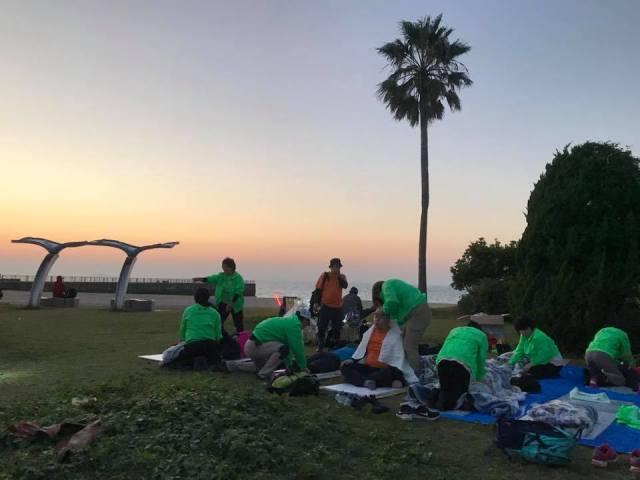 五色浜公園「愛媛チャリティ100km歩くぞなもし」100kmウォーキングに参加しました