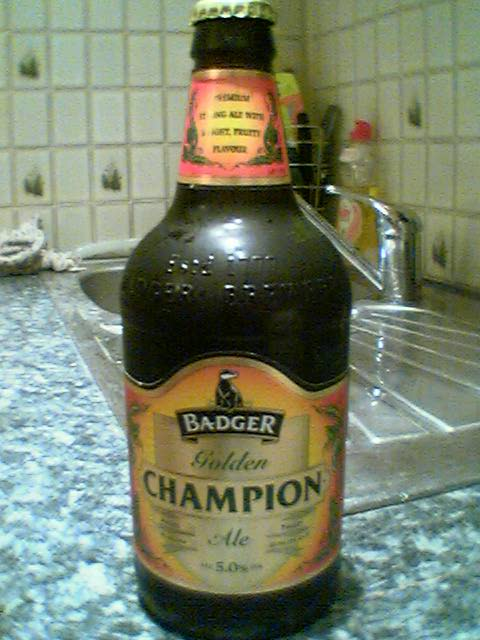 Bottle of Badger Golden ChampionAle