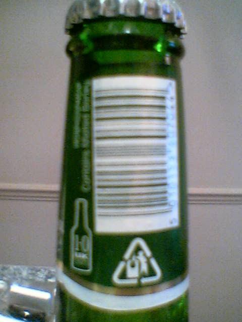 Carlsberg left neck label