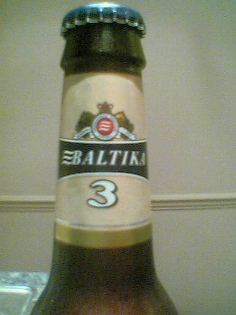 Baltika 3 neck label