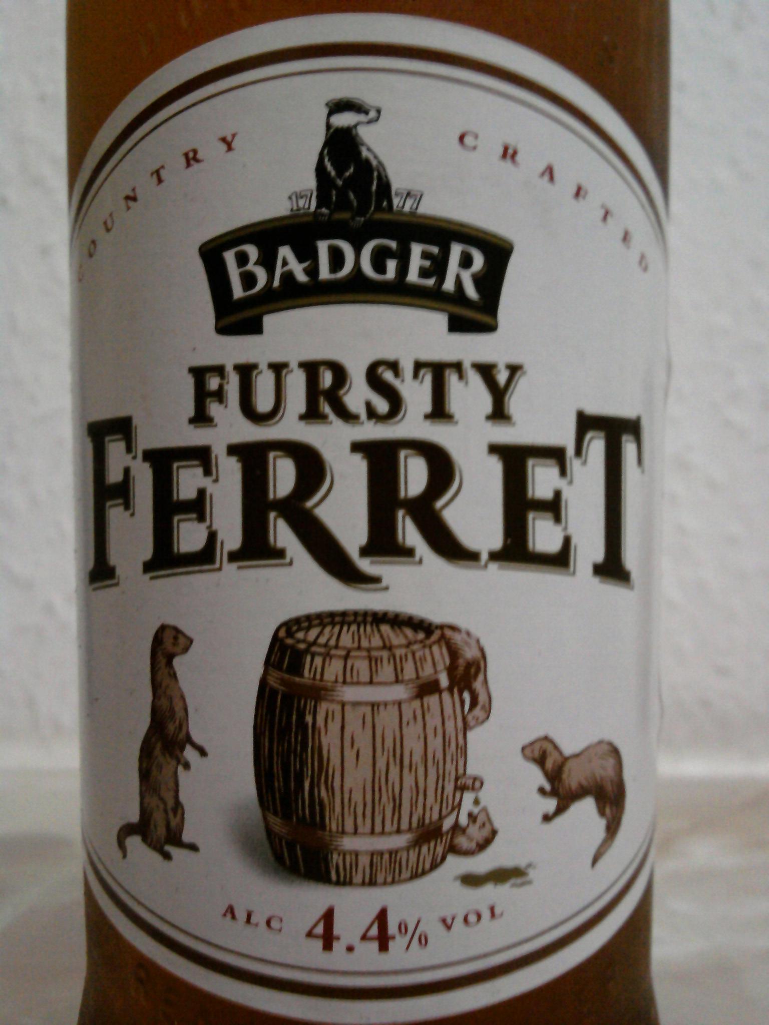 Badger Fursty Ferret front label
