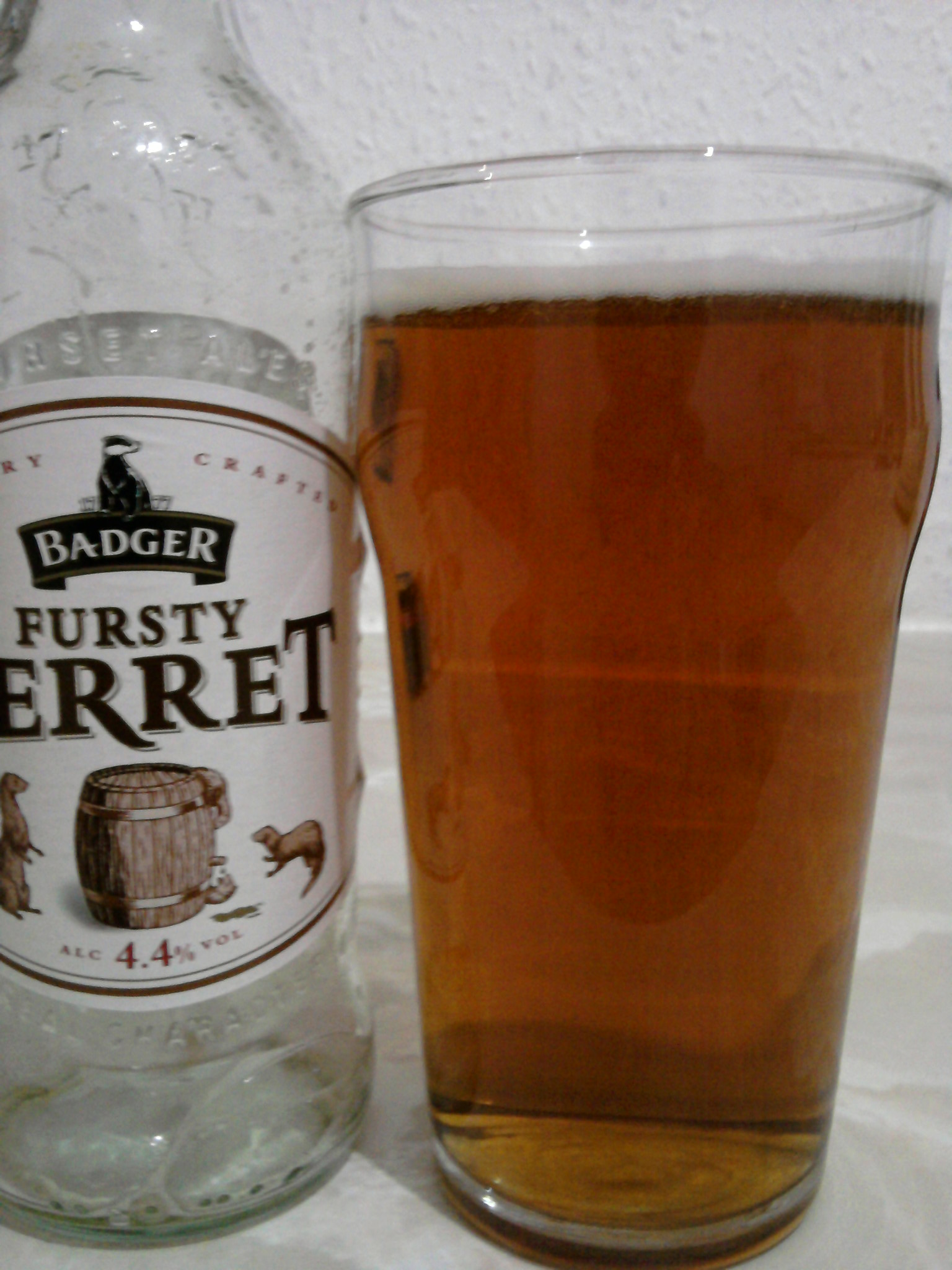 Badger Fursty Ferret poured into a glass