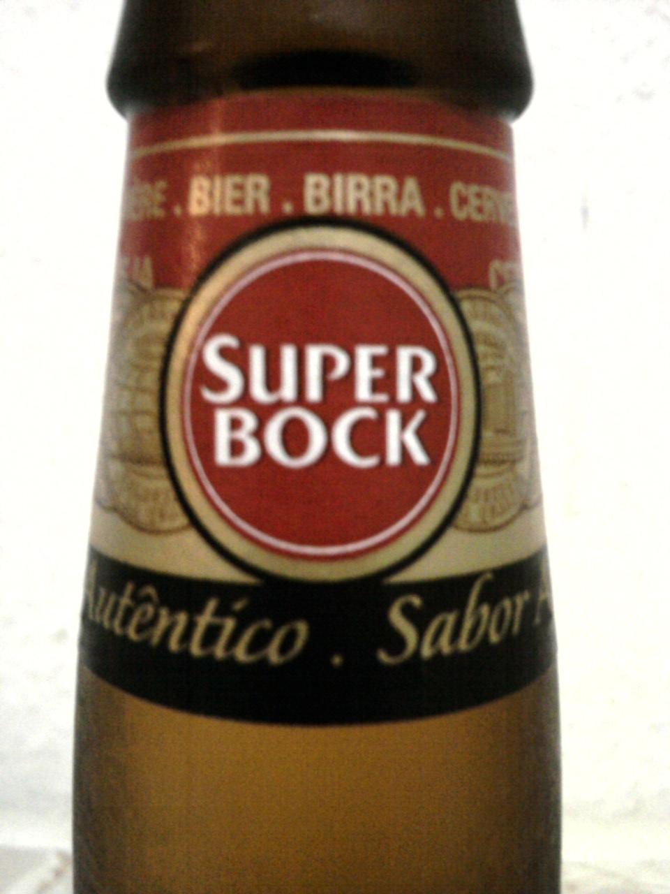 Super Bock neck label