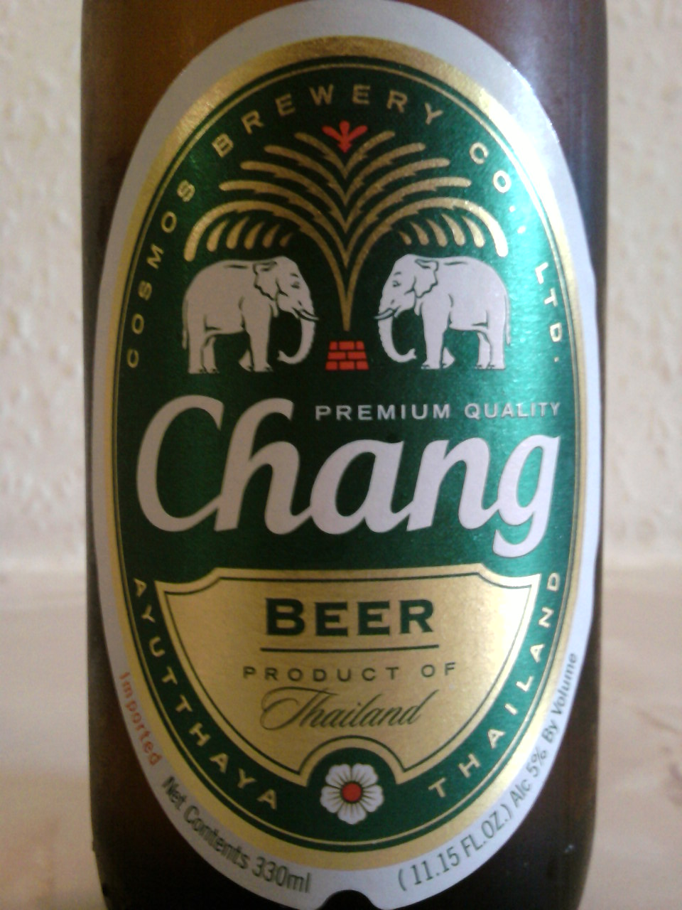 Chang Beer front label