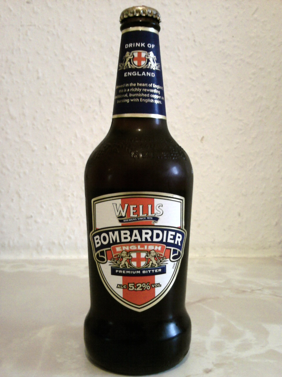 Wells Bombardier English Premium Bitter bottle