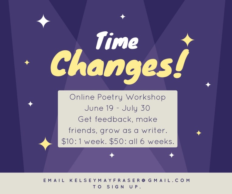a Summer 2017 poetry workshop mailer